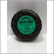 Round African Black Soap
